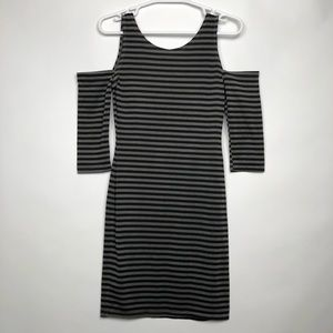 Urban outfitters black gray stripped dress